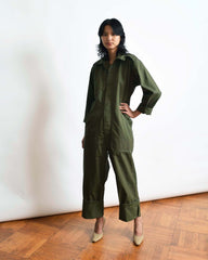 Vintage Army Green Coveralls