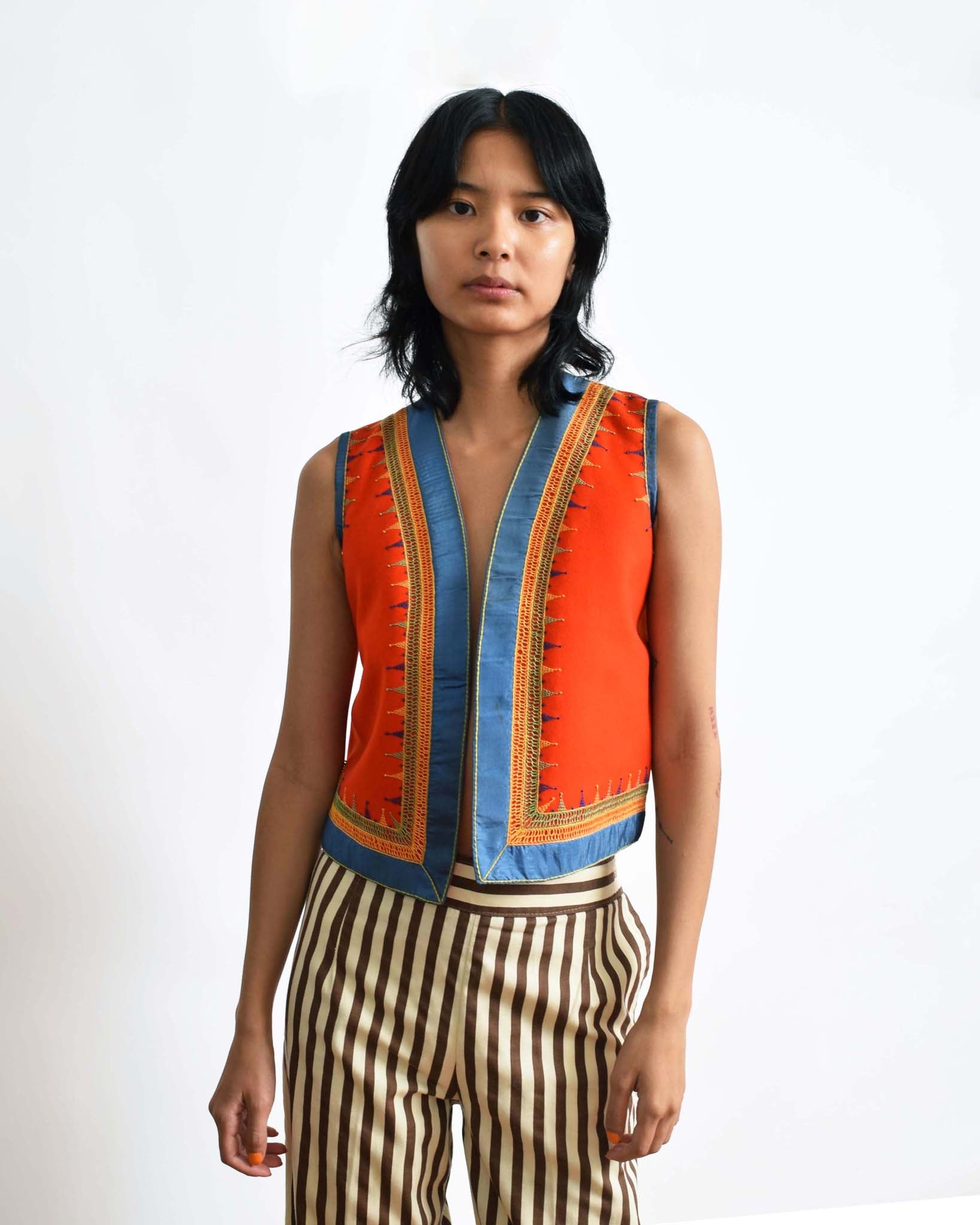 Vintage Embroidered Boho Vest