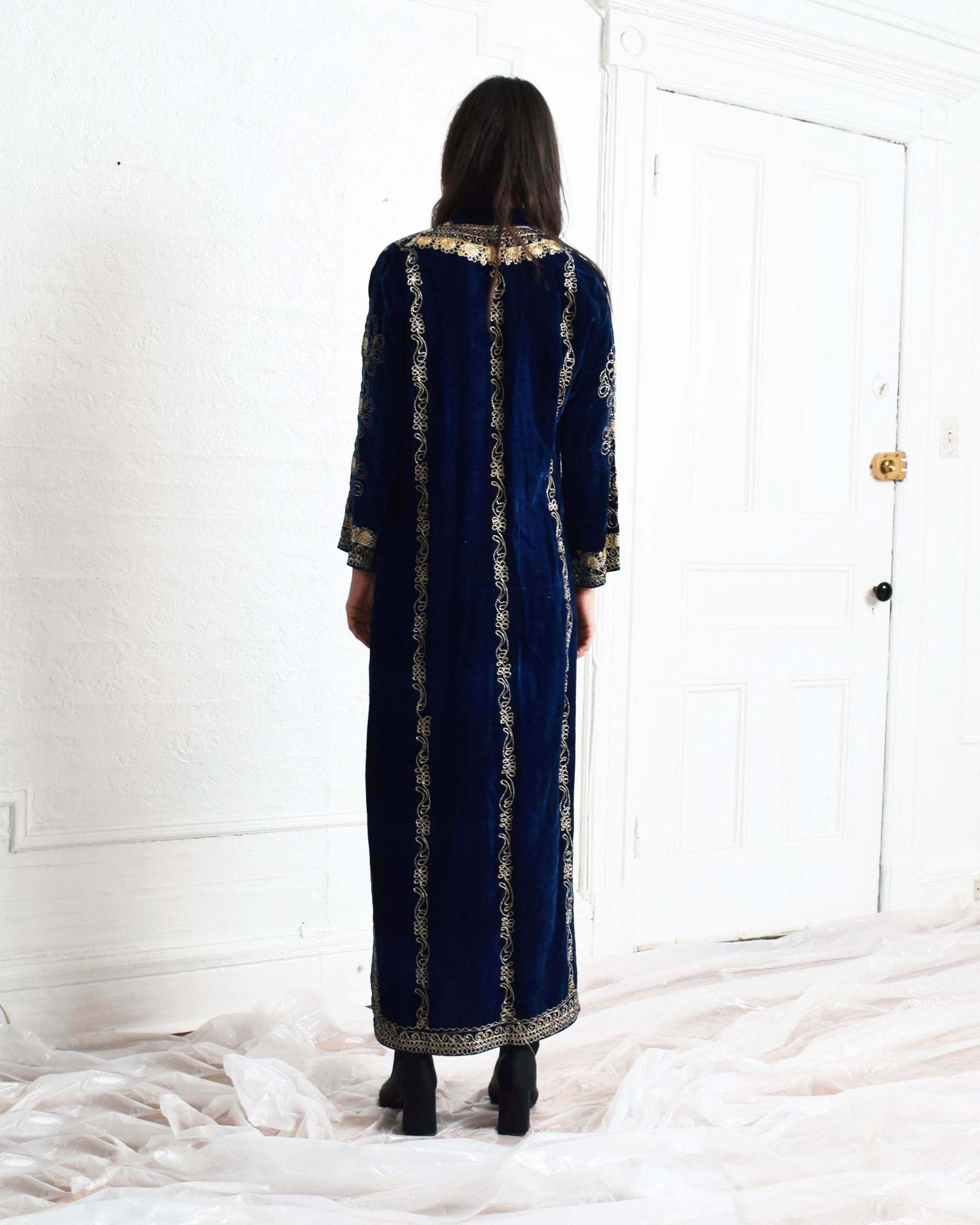 Vintage Embroidered Velvet Kaftan