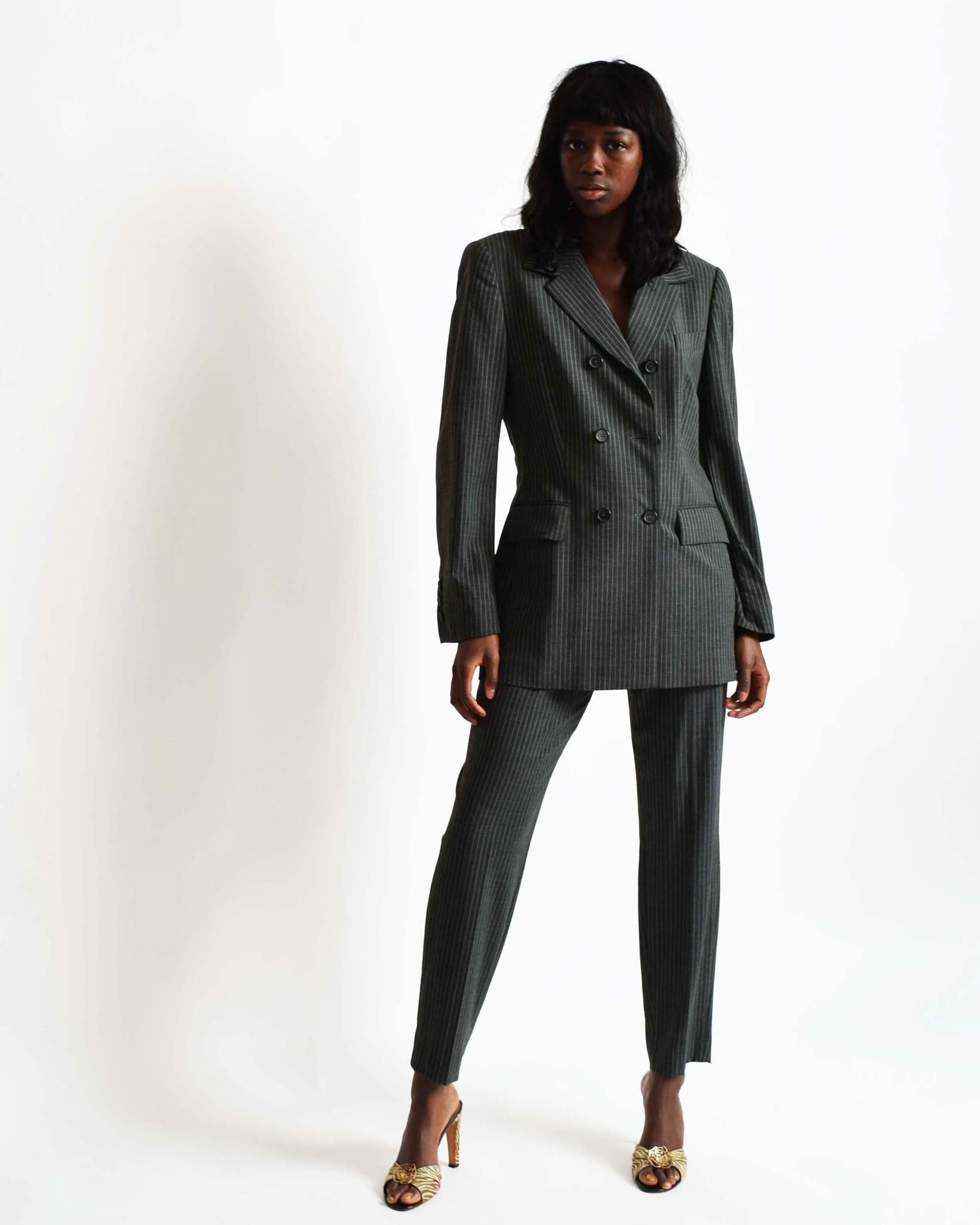 Vintage Escada Pinstriped Suit