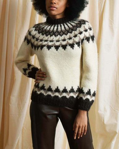 Vintage Grey Color Block Sweater
