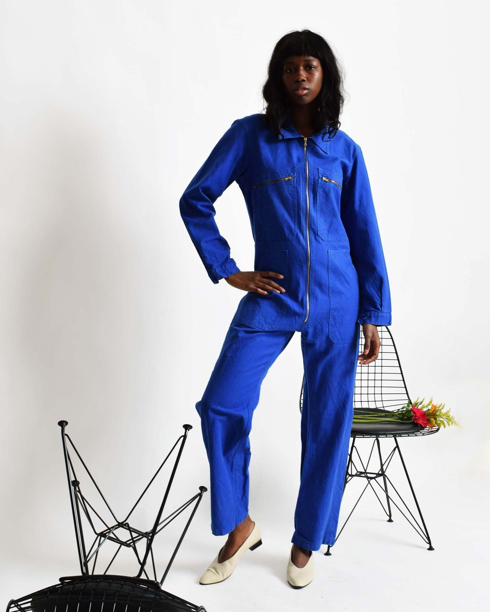 Vintage French Blue Coveralls