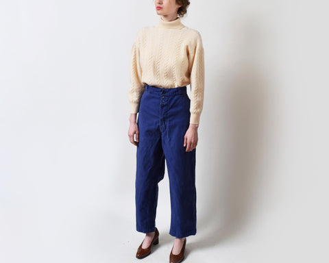 Vintage French Workwear Trousers