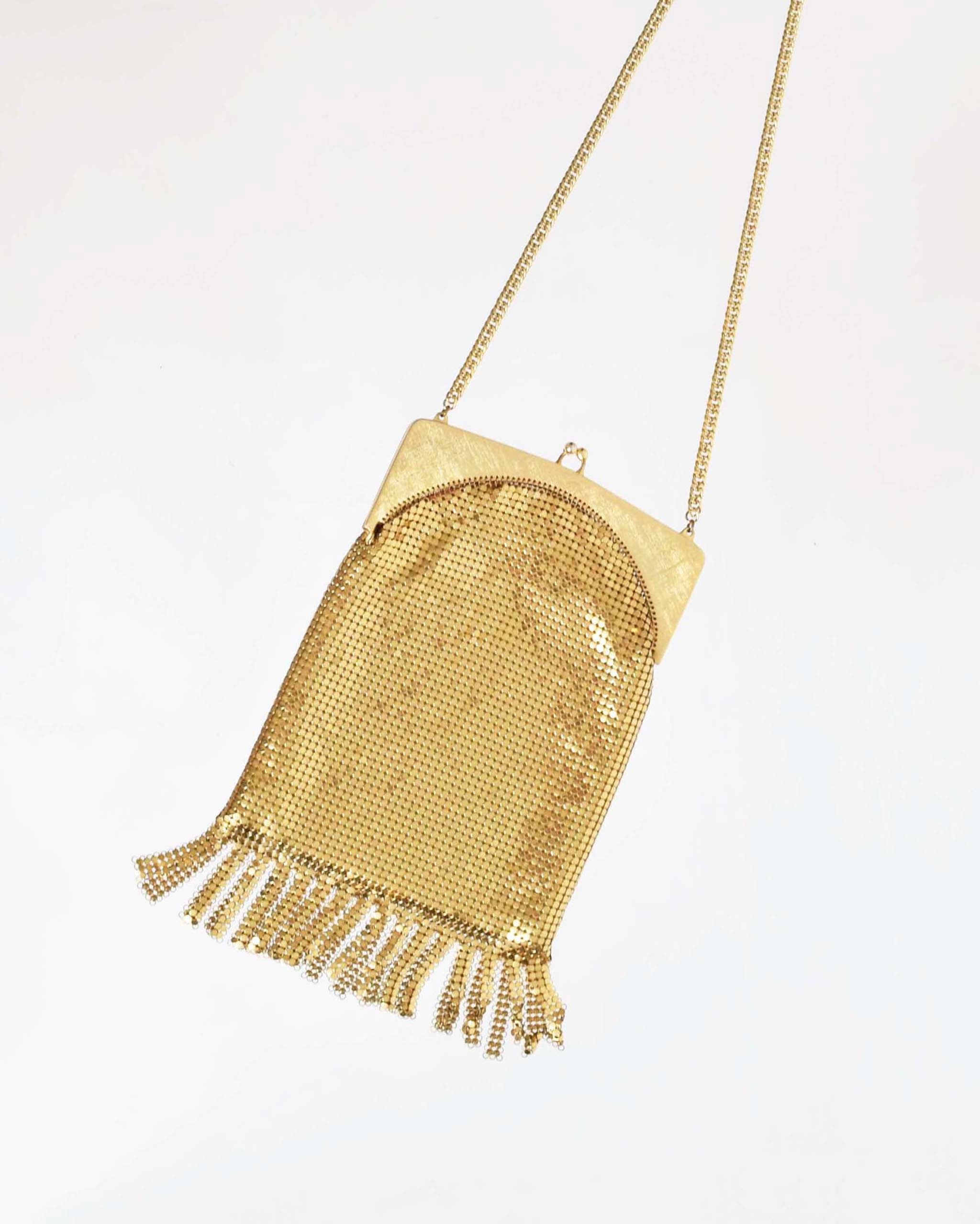 Vintage Whiting & Davis Fringed Evening Bag