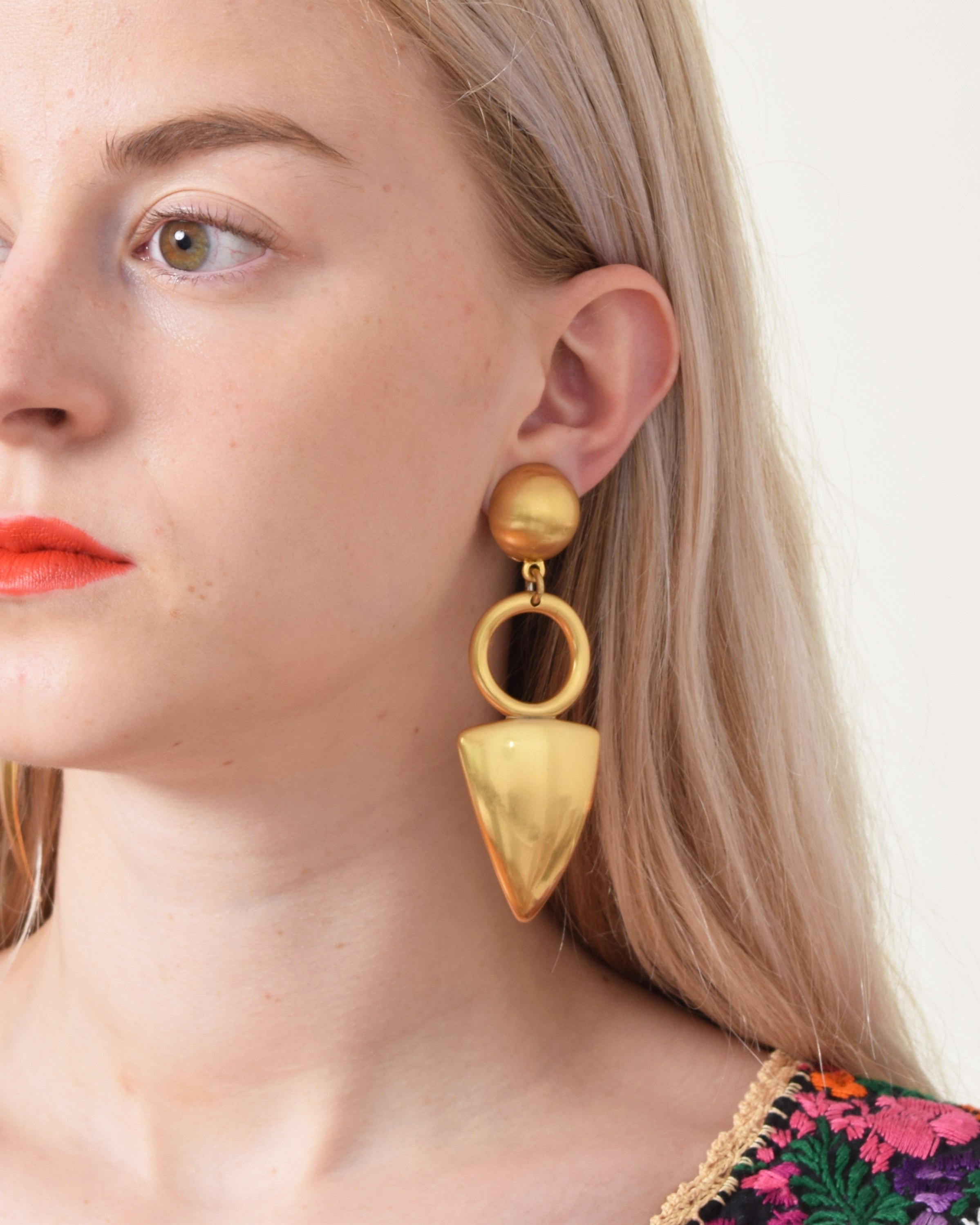 Vintage Geometric Drop Earrings