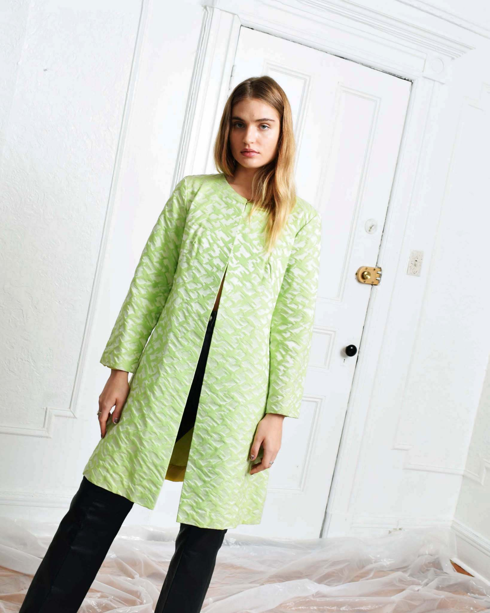 Vintage Lime Graphic Coat