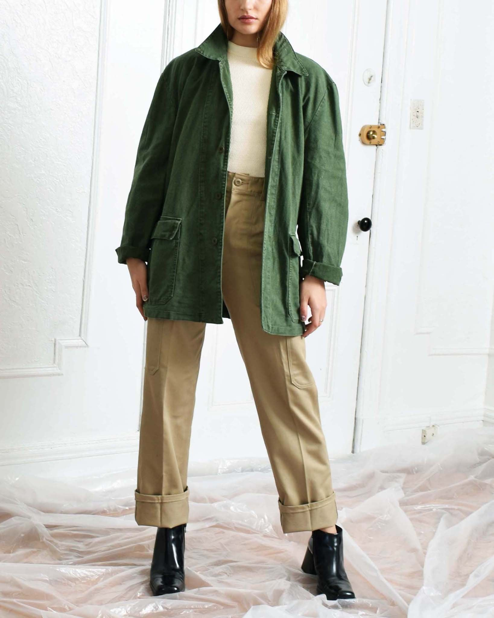 Vintage Army Green Chore Jacket