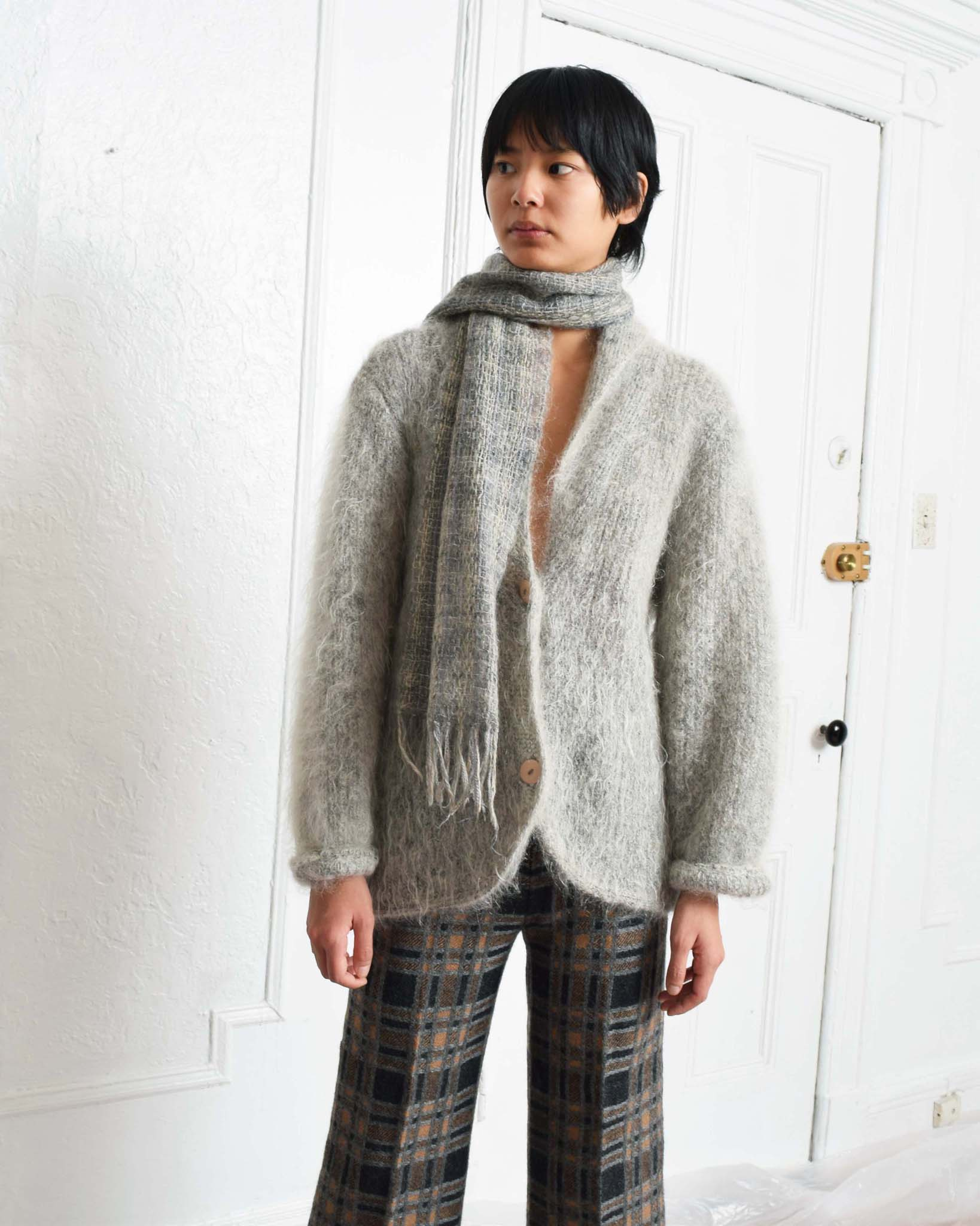 Vintage Grey Mohair Sweater