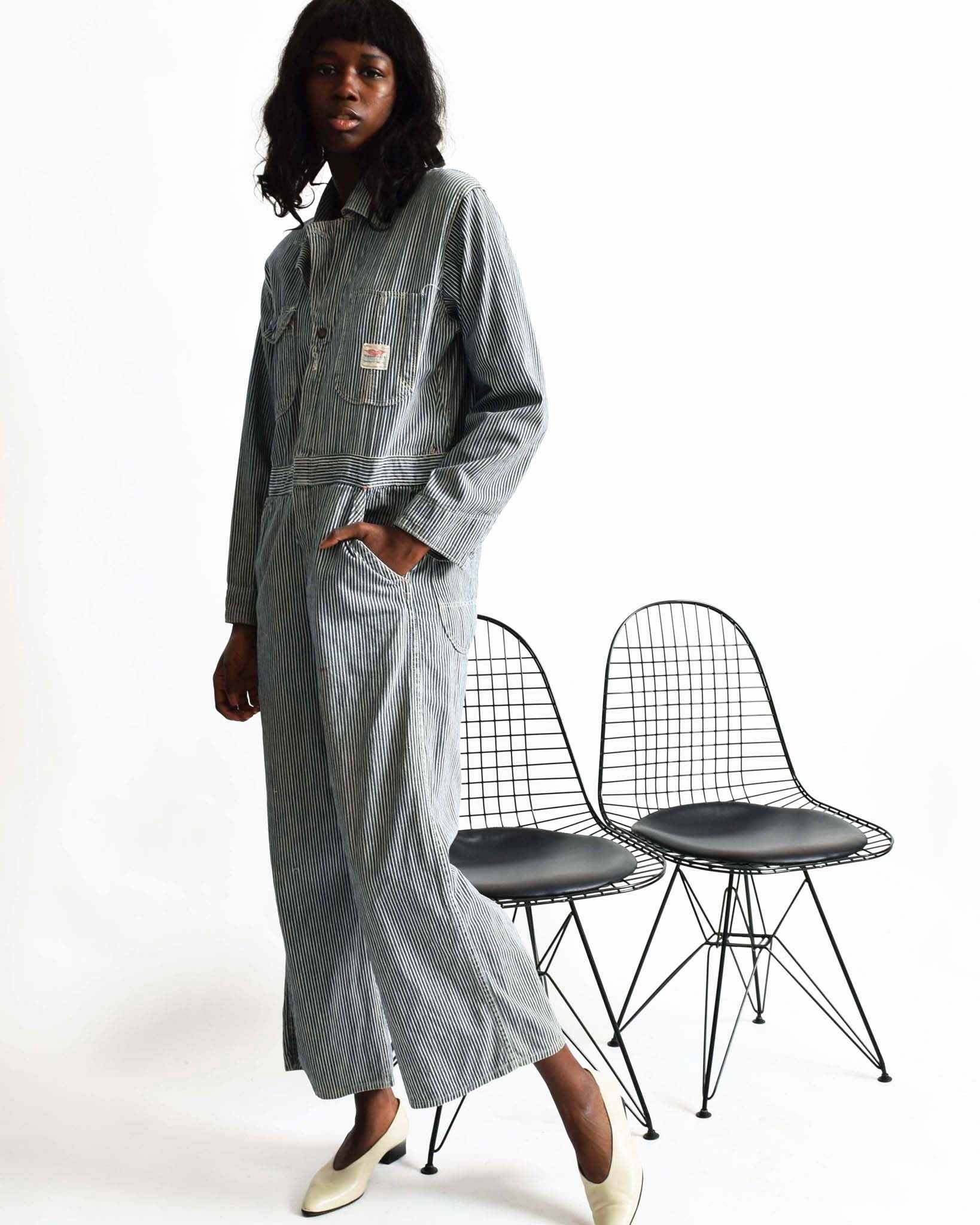 Vintage Hickory Stripe Coveralls
