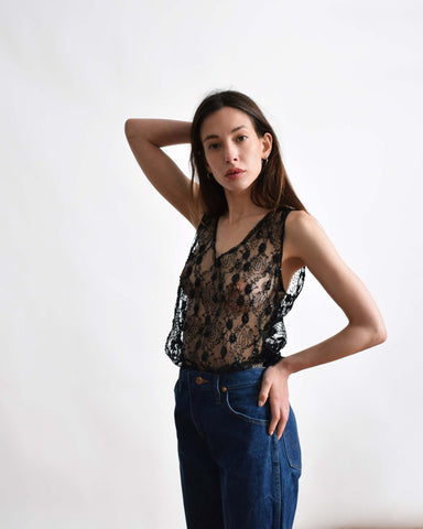Jill Stuart Beaded Lace Top