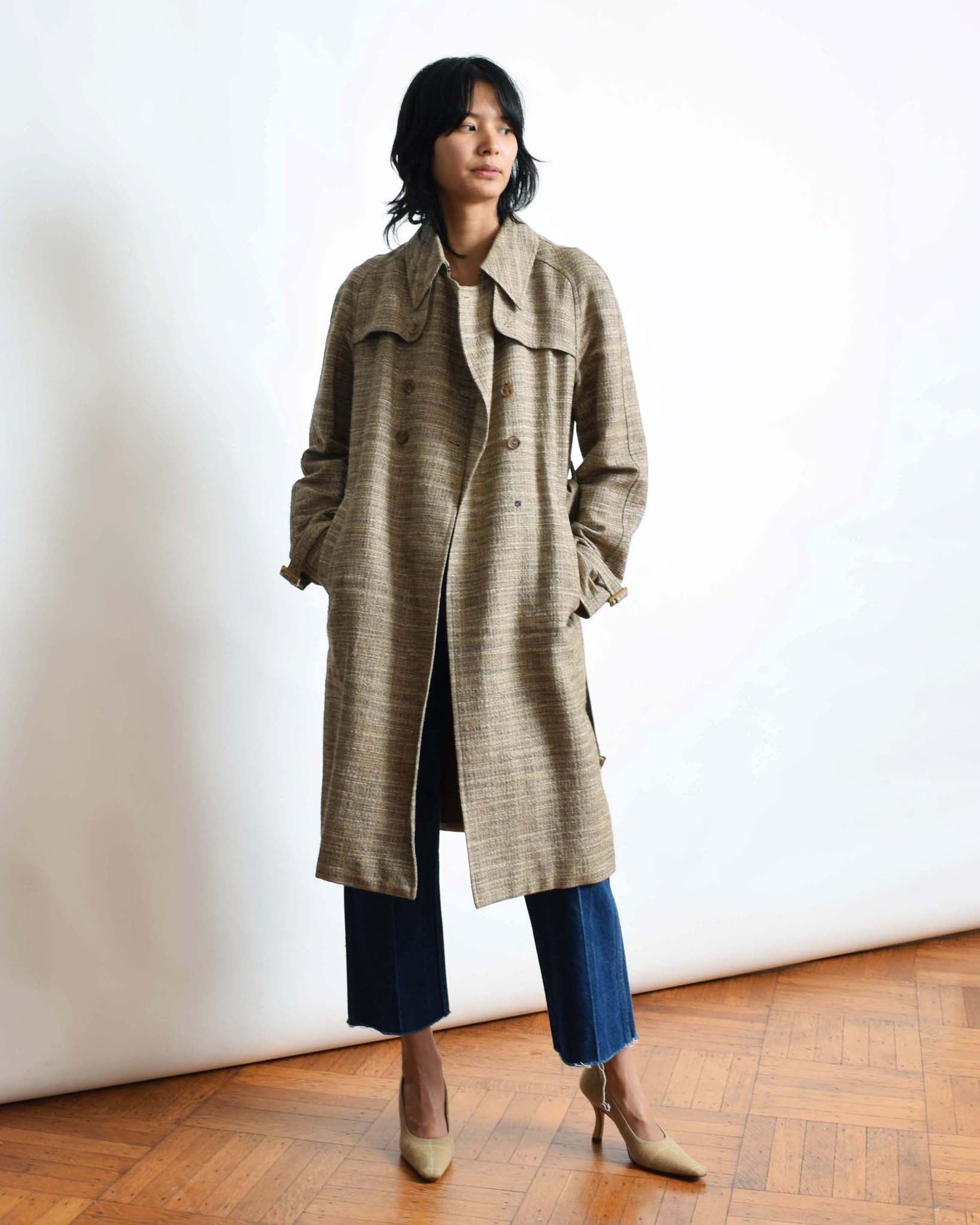 Lanvin Tweed Trench Coat