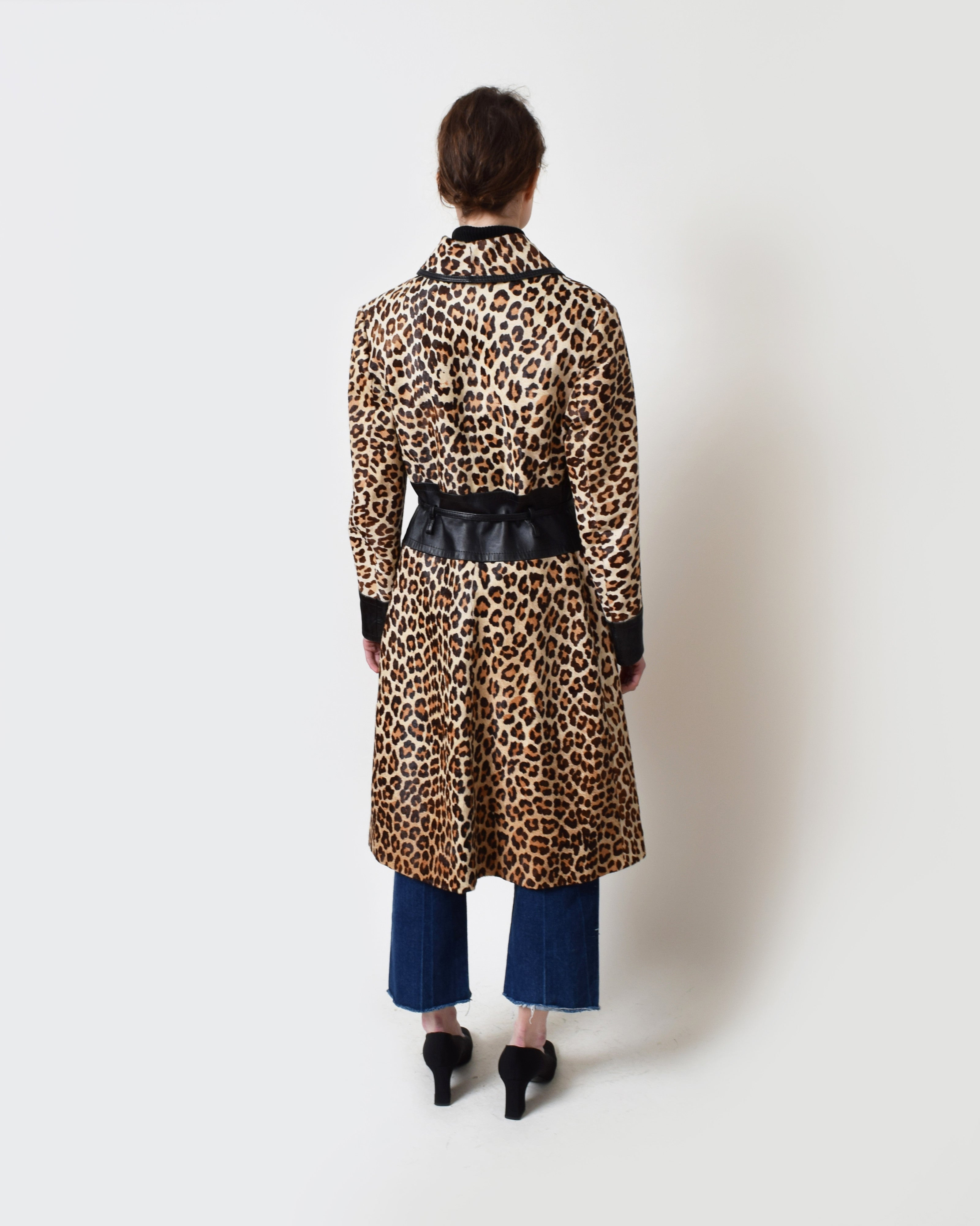Vintage Leopard Pony Hair Coat