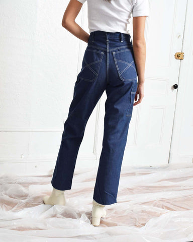 Vintage 1970s Carpenter Pants - Light Wash