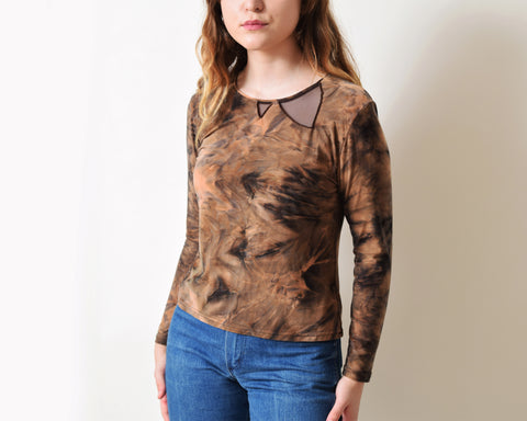 Vintage Marbled Silk Top