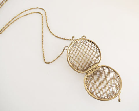 Vintage Caged Pendant Necklace