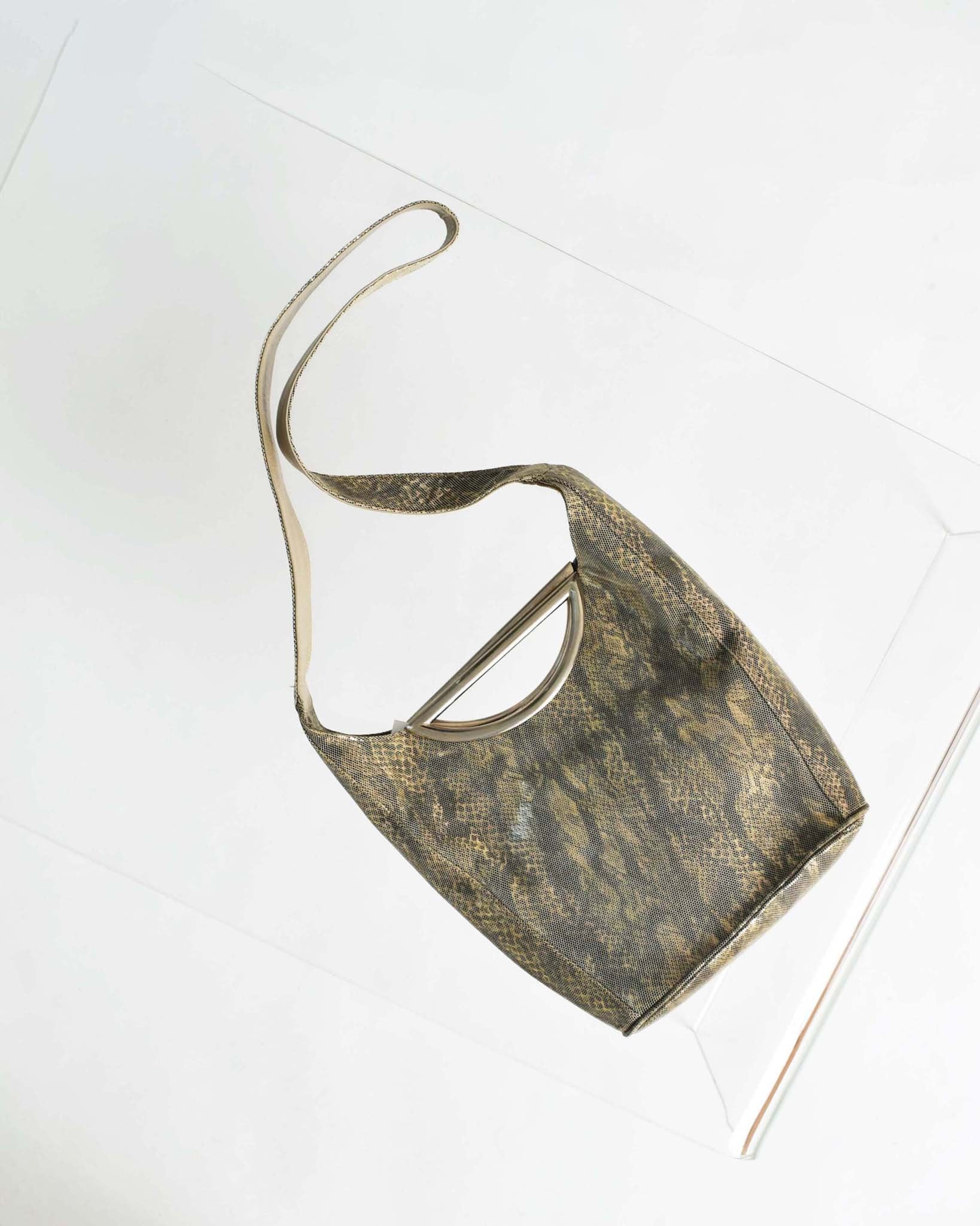 Vintage Metallic Animal Print Bag