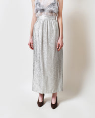 Vintage Metallic Silver Skirt