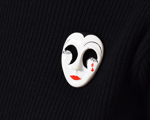 Vintage Mime Brooch