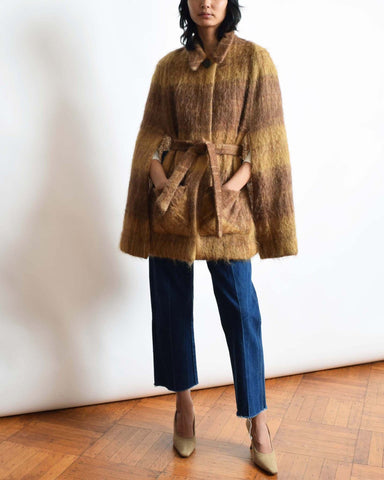 Vintage Mustard Mohair Cape