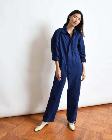 Vintage Blue Cotton Coveralls