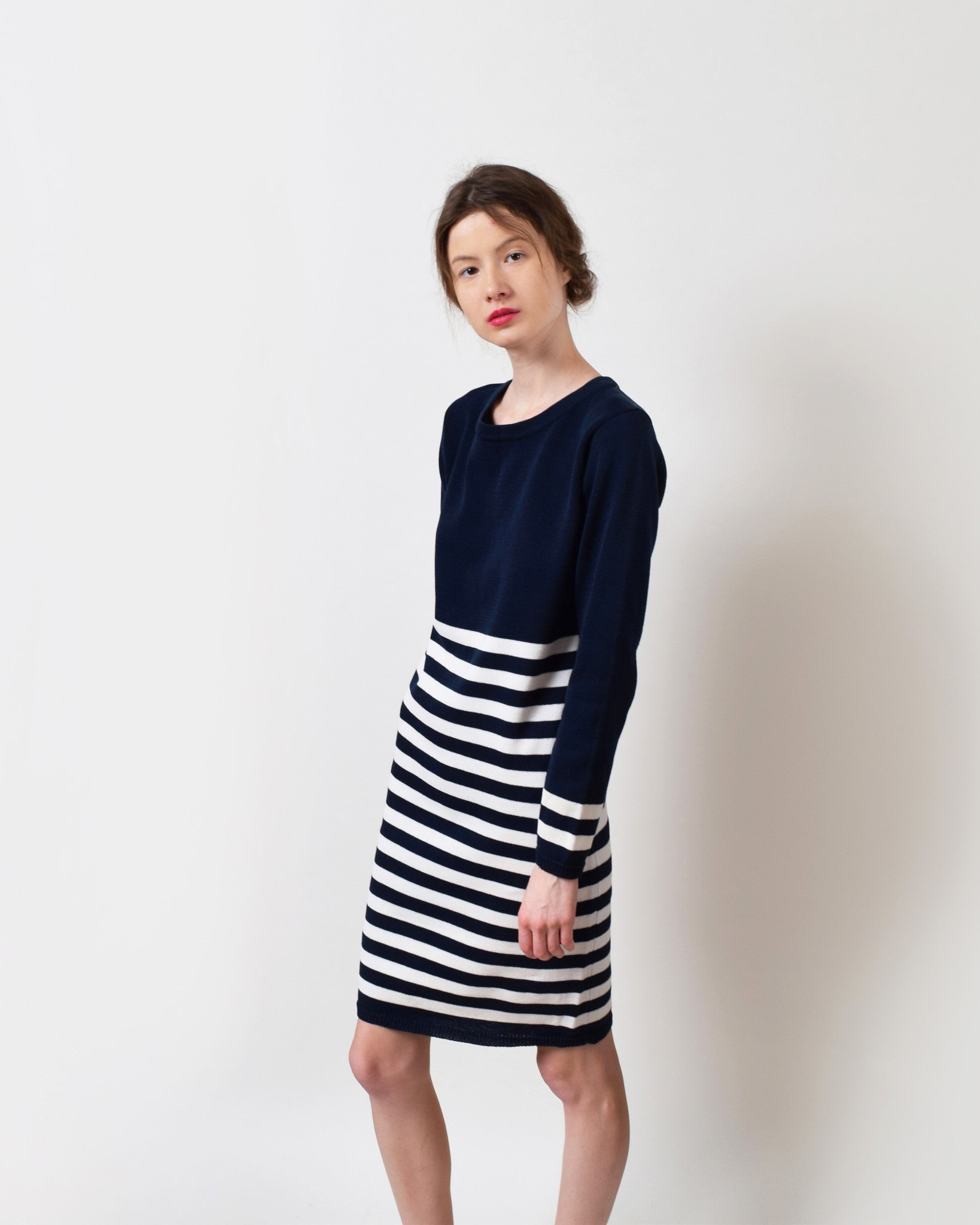 Vintage Striped Sweater Dress