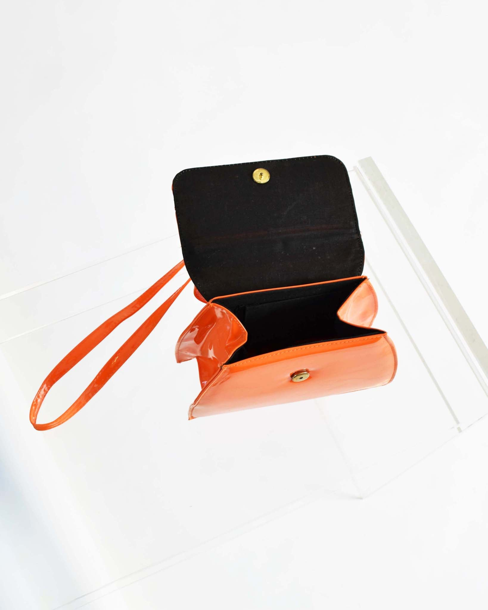 Vintage Orange Patent Handbag