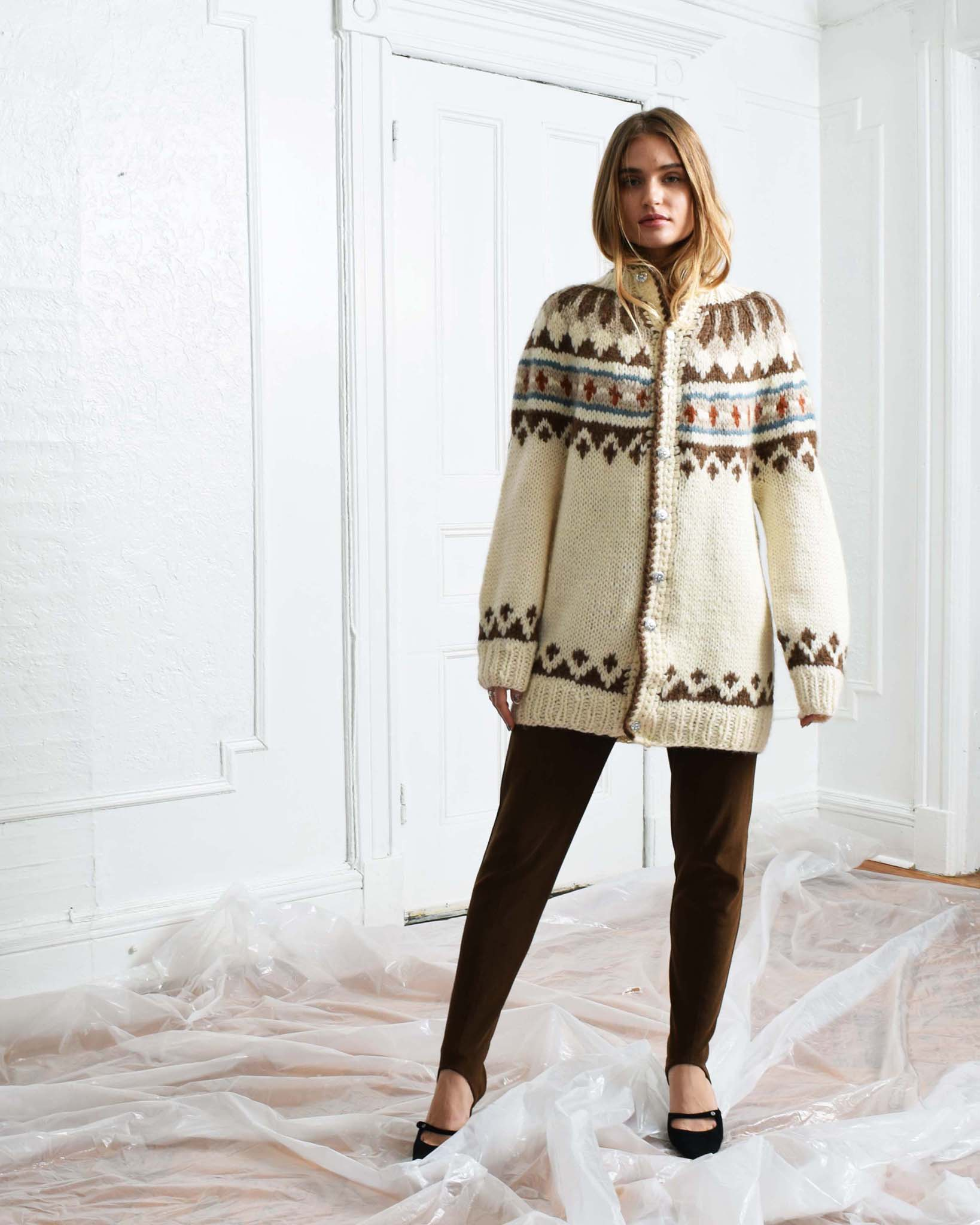 Vintage Oversized Fair Isle Sweater