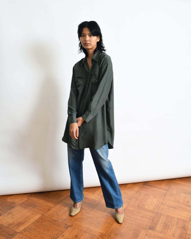 Vintage Oversized Silk Blouse