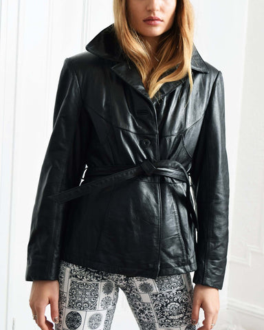 Vintage Patchwork Leather Jacket