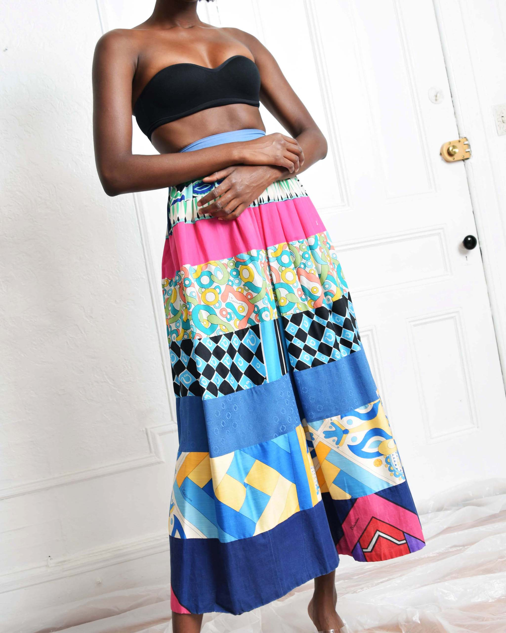 Vintage Valditevere Patchwork Skirt
