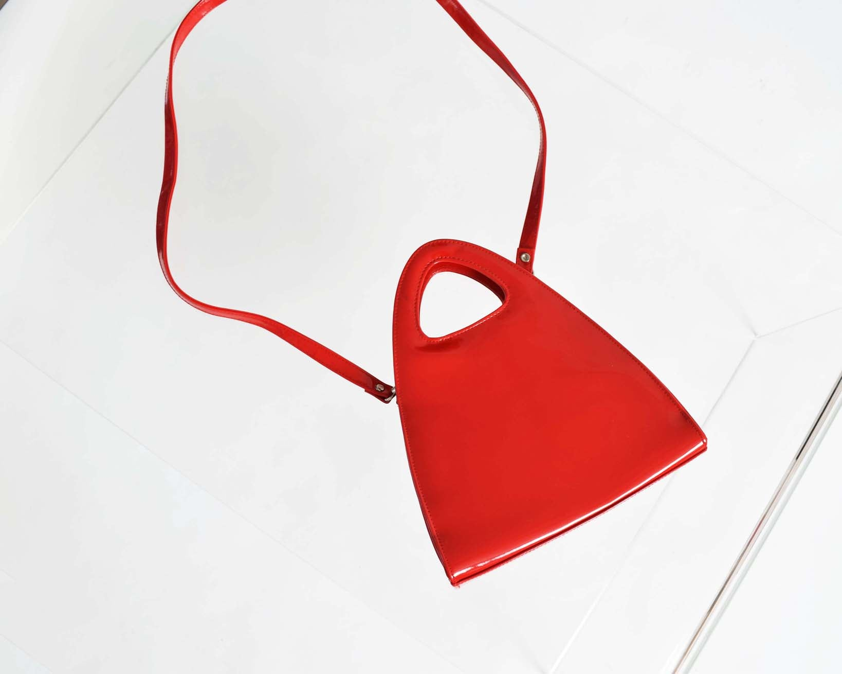 Vintage Red Patent Handbag