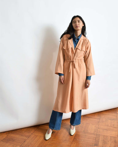 Vintage Peach Shirt Dress or Duster
