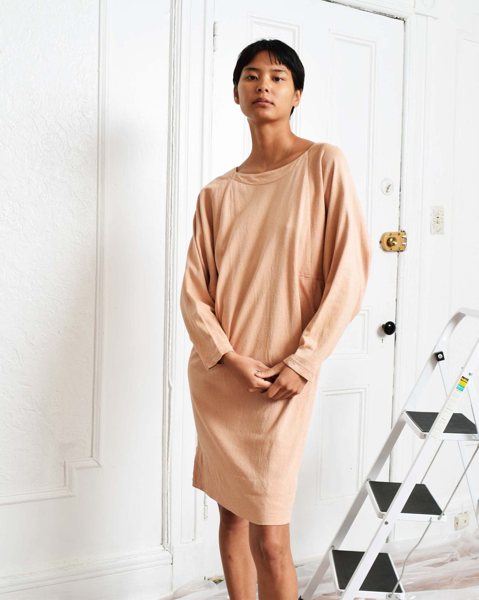 Vintage Peach Dolman Dress