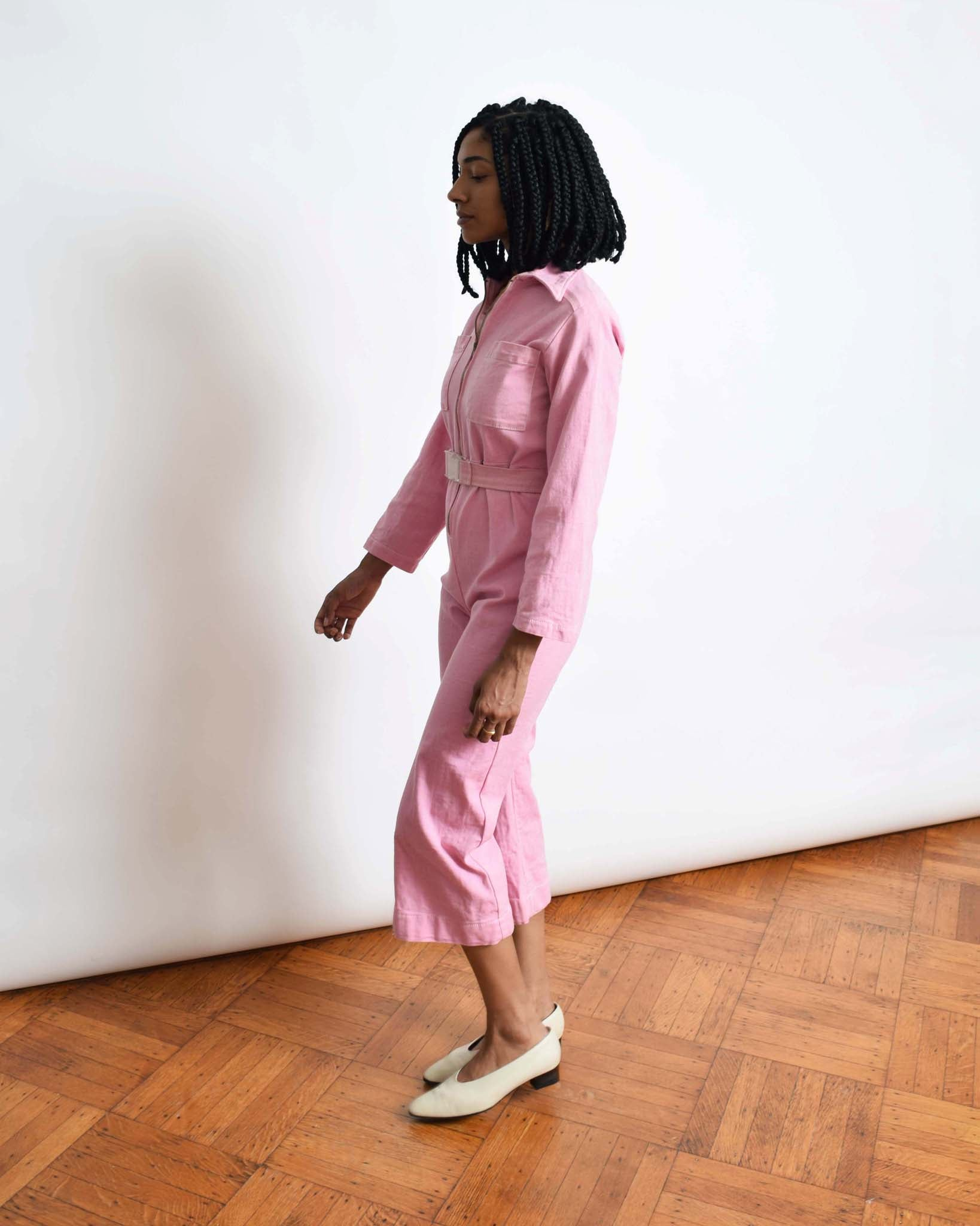 Vintage Petite Fit Pink Coveralls
