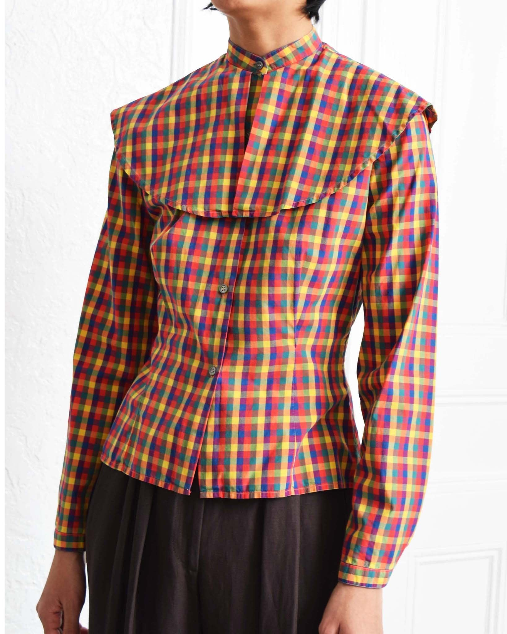 Vintage Perry Ellis Check Blouse