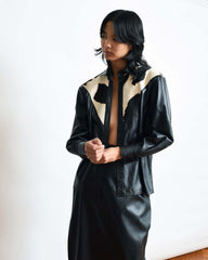 Vintage Calf Hide Leather Shirt