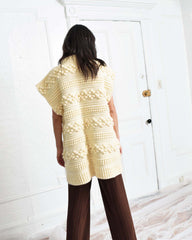 Vintage Popcorn Knit Sweater Coat