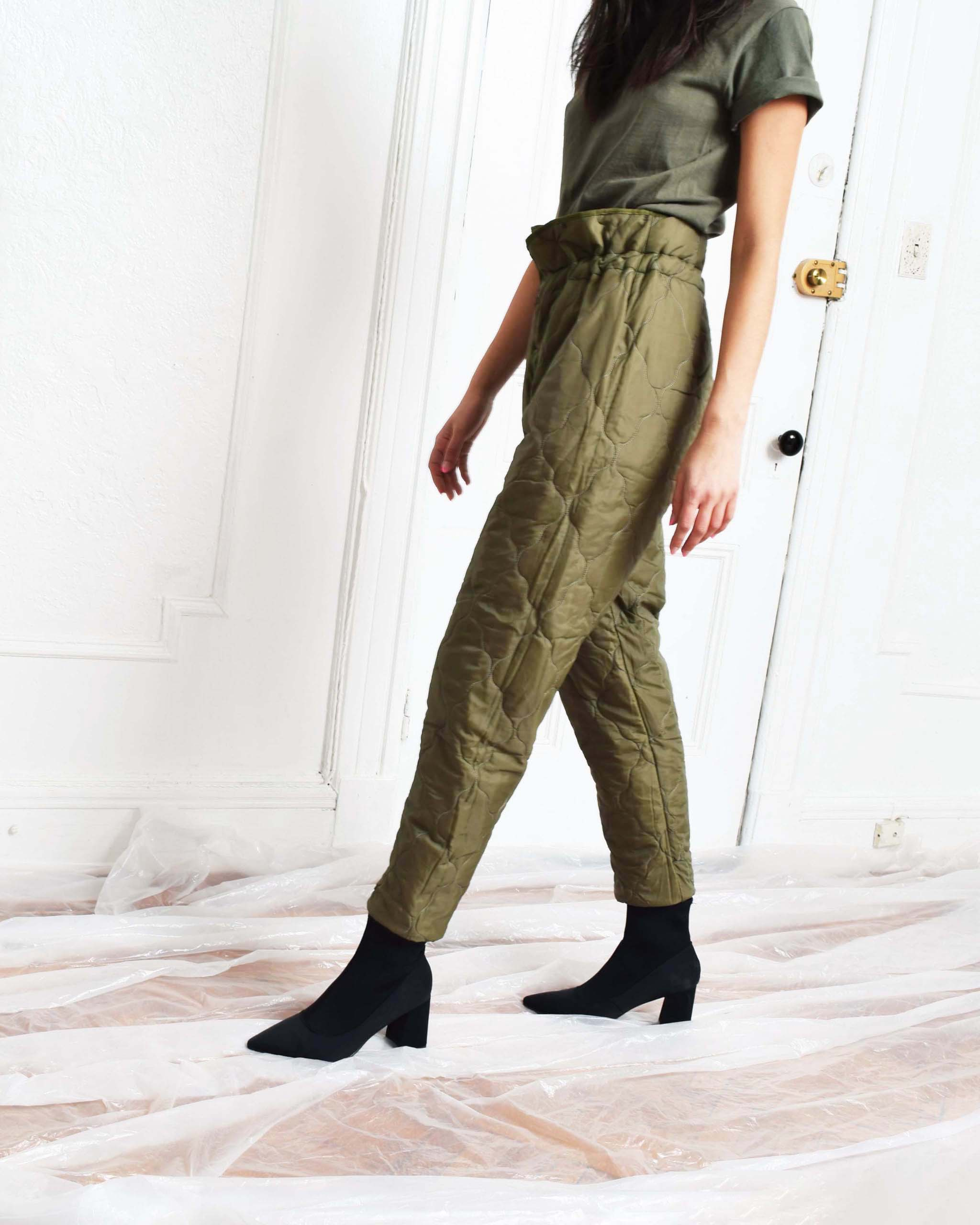 Vintage Quilted Pants