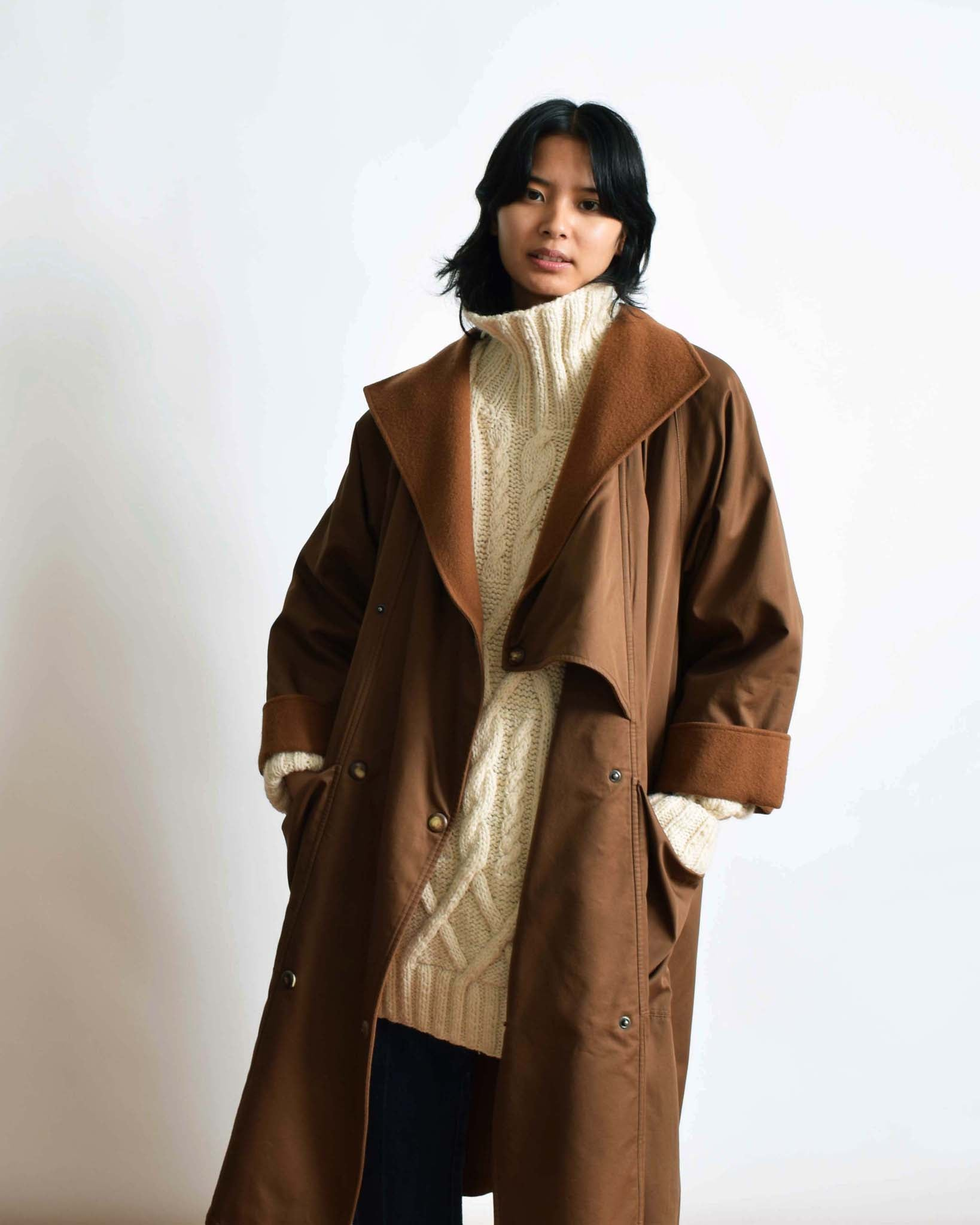 Vintage Brown Trench Coat