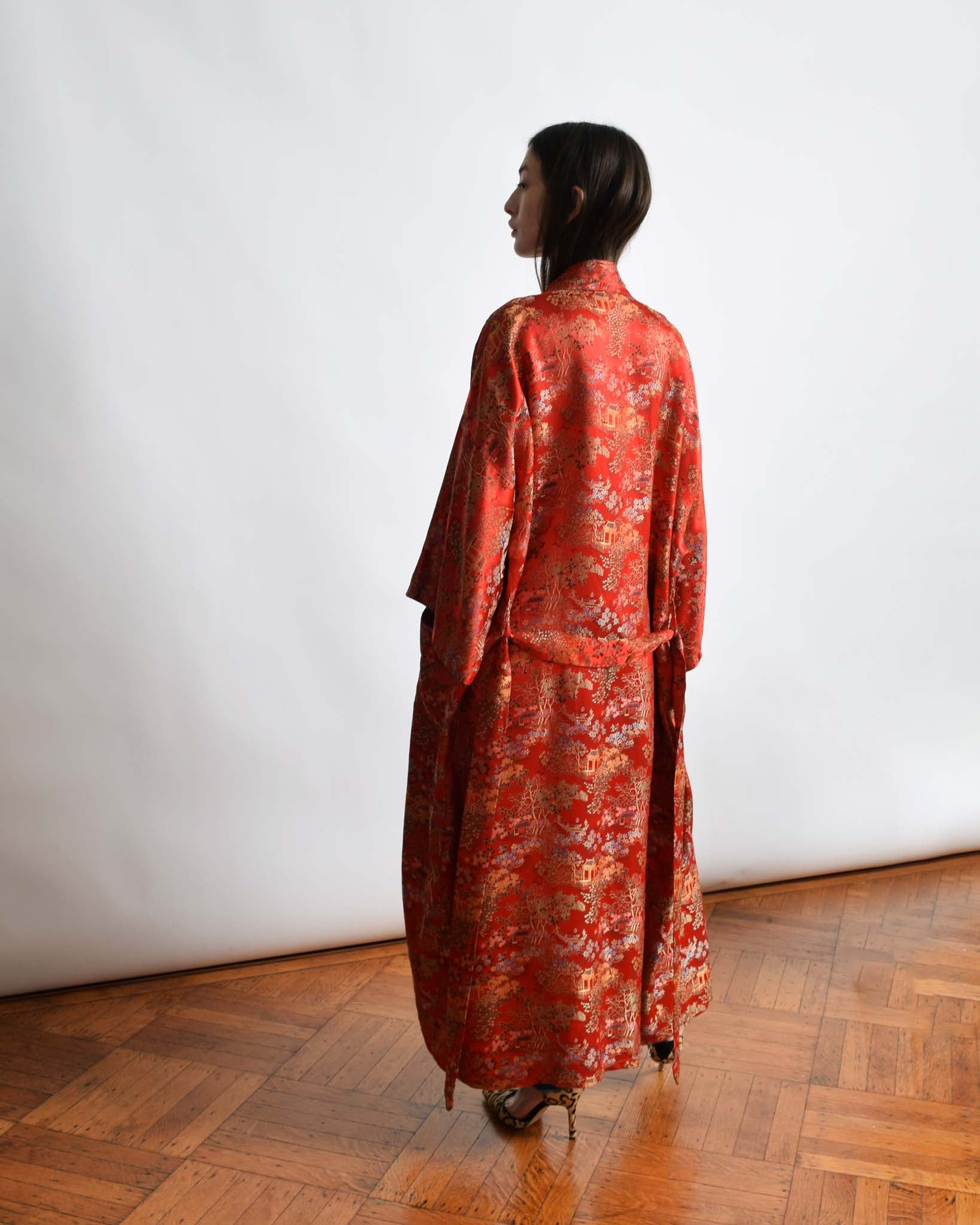 Vintage Brocade Chinese Duster Robe