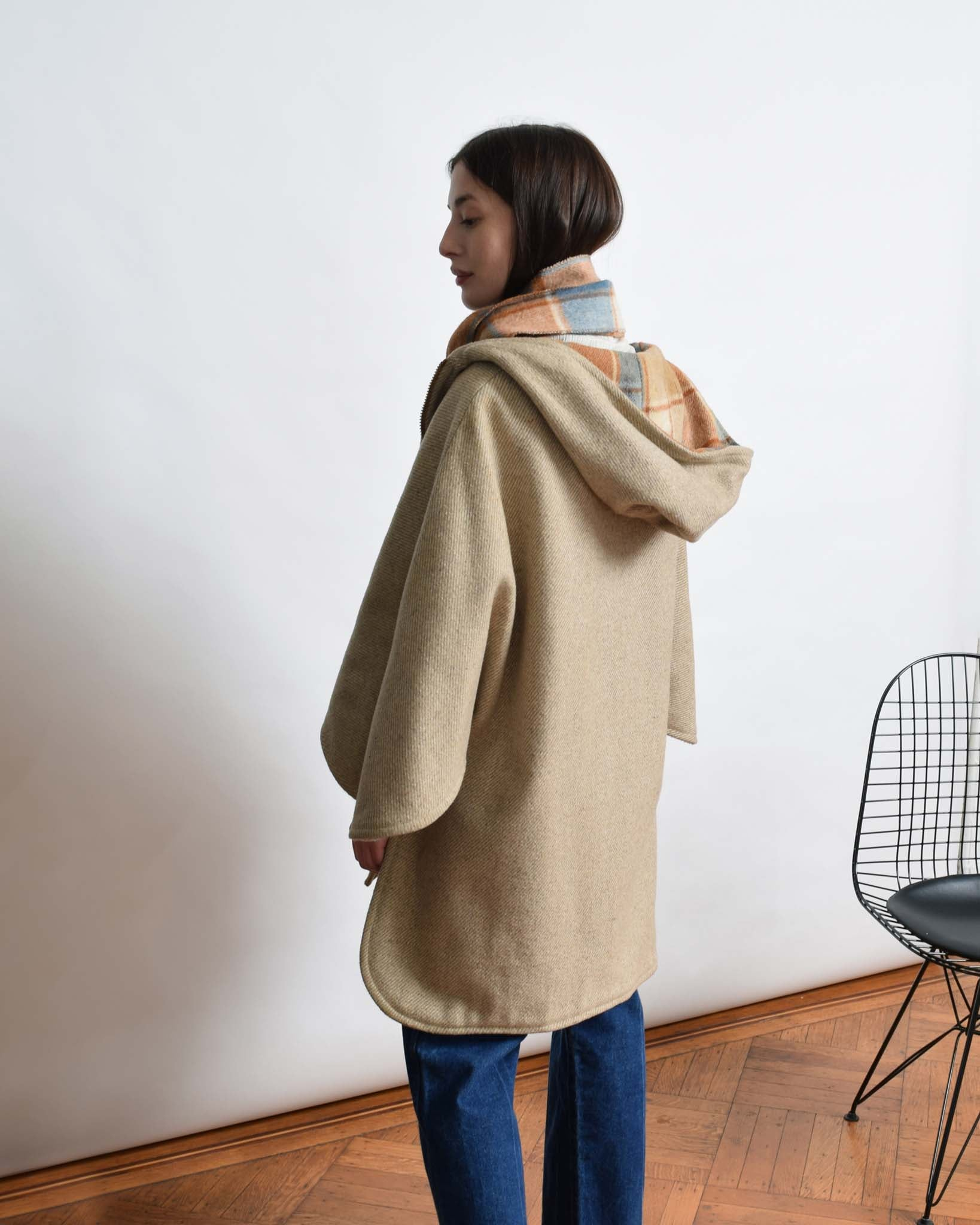 Vintage Reversible Wool Cape Coat