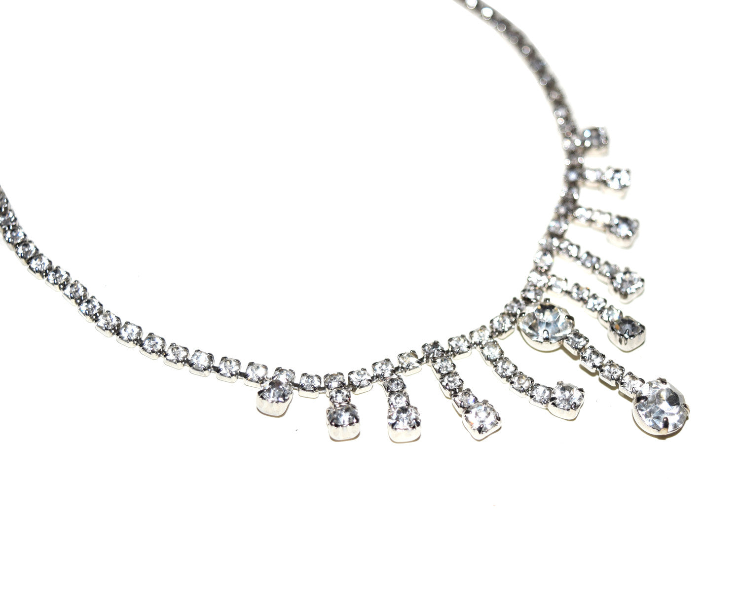 Vintage 1950s Rhinestone Necklace