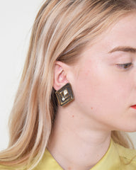 Vintage 1970s Ridged Earrings