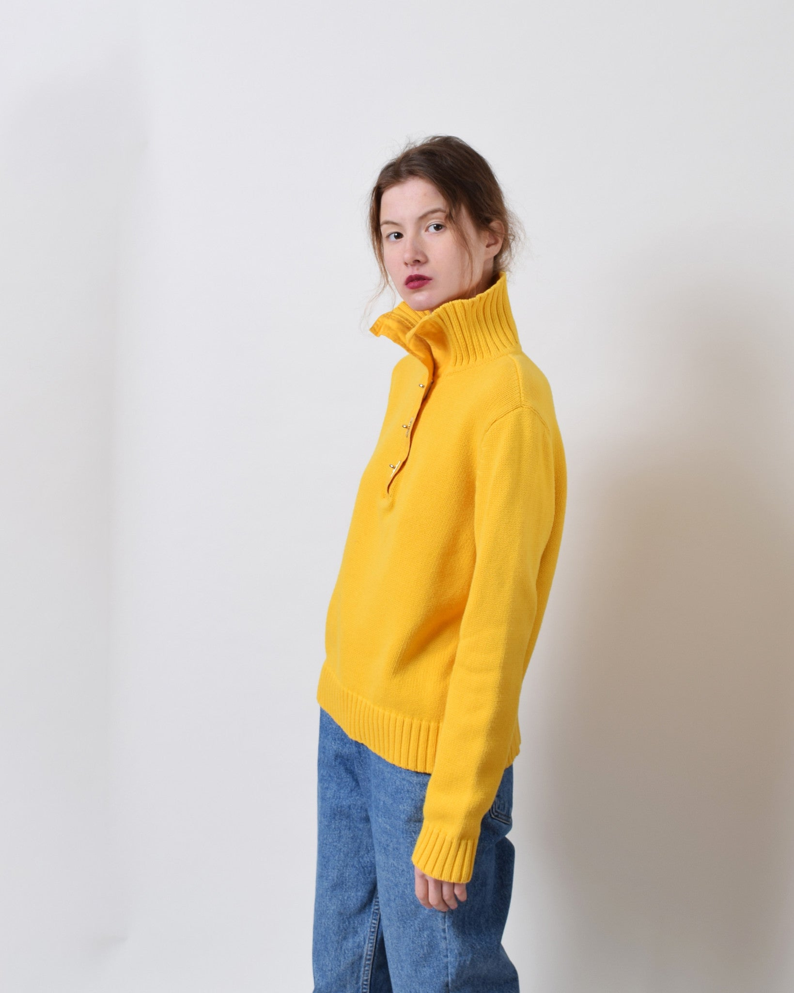 Ralph Lauren Yellow Turnlock Sweater