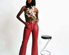 Vintage Rust Leather Pants