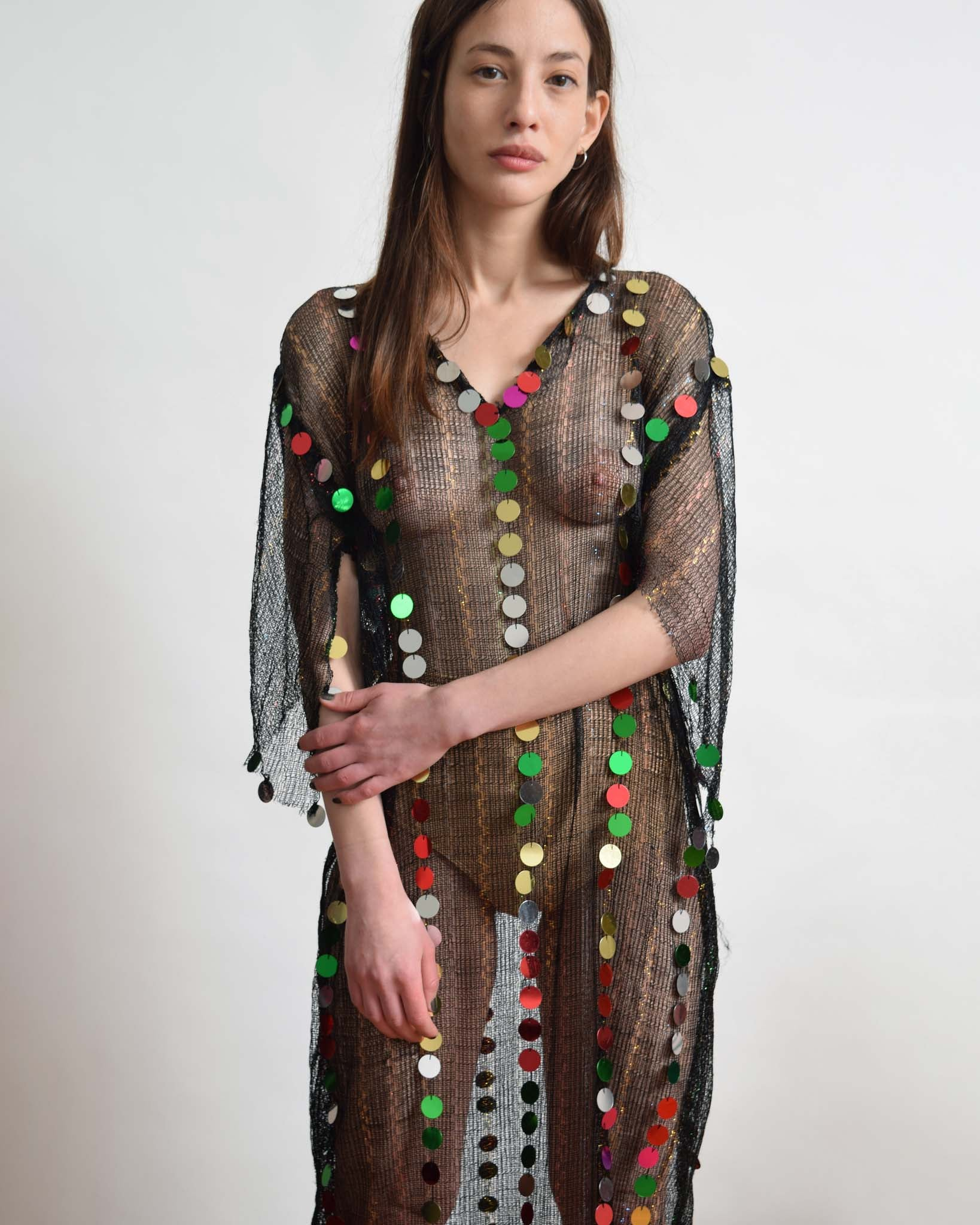Vintage Sheer Confetti Dress
