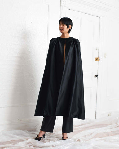 Vintage Black Silk Cape
