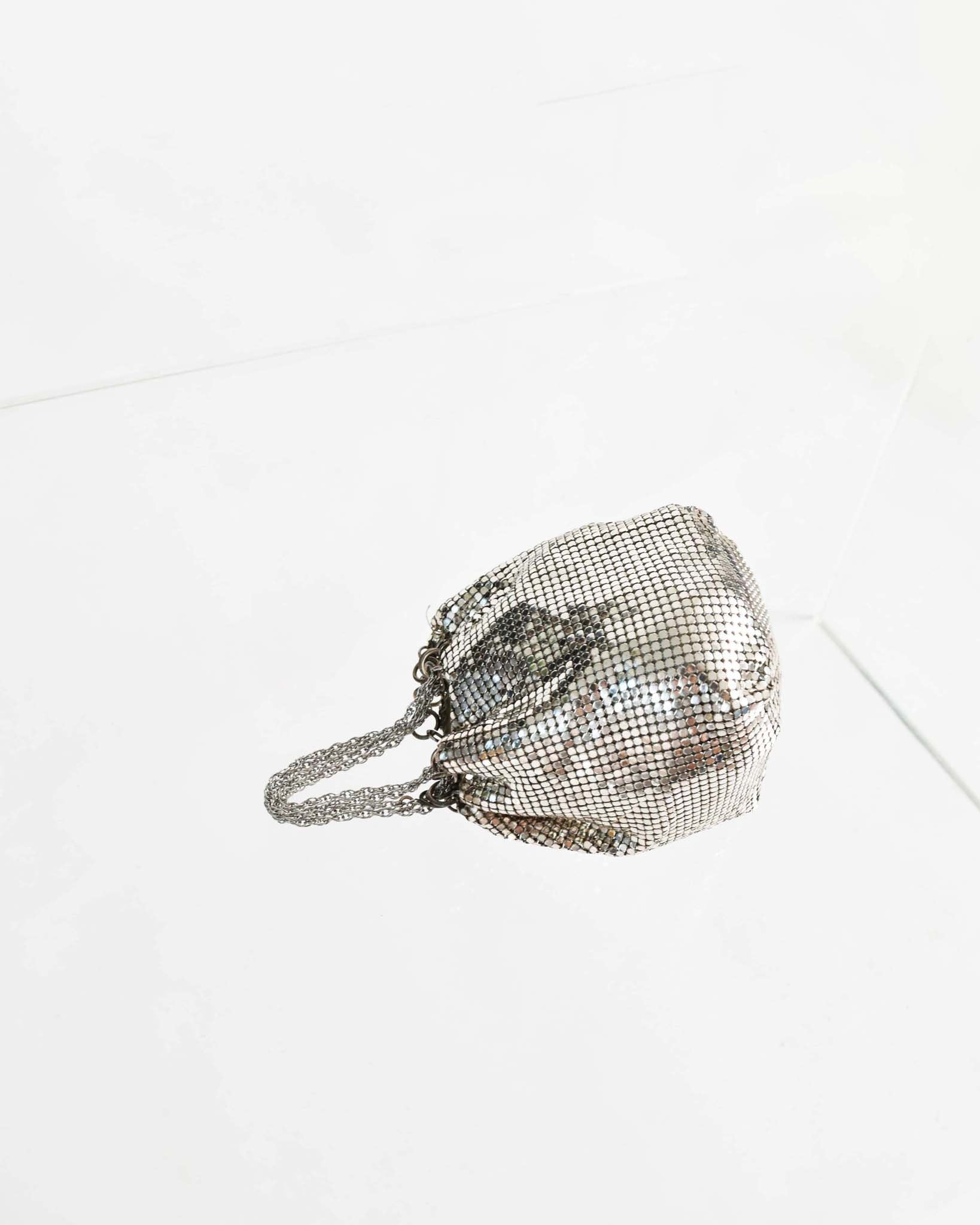 Vintage Silver Chainmail Reticule