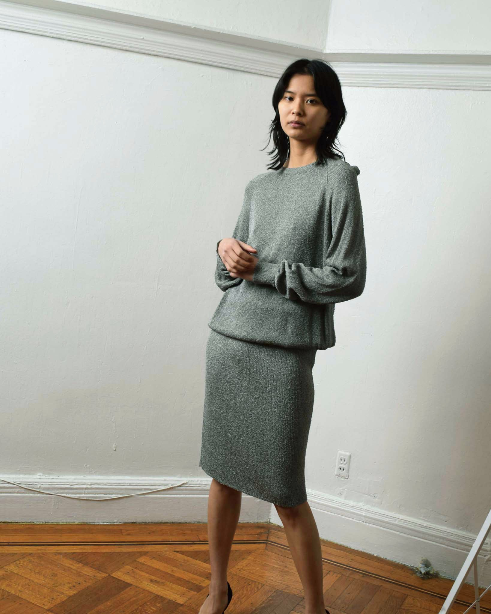 Vintage Grey Knit 3 Piece Set