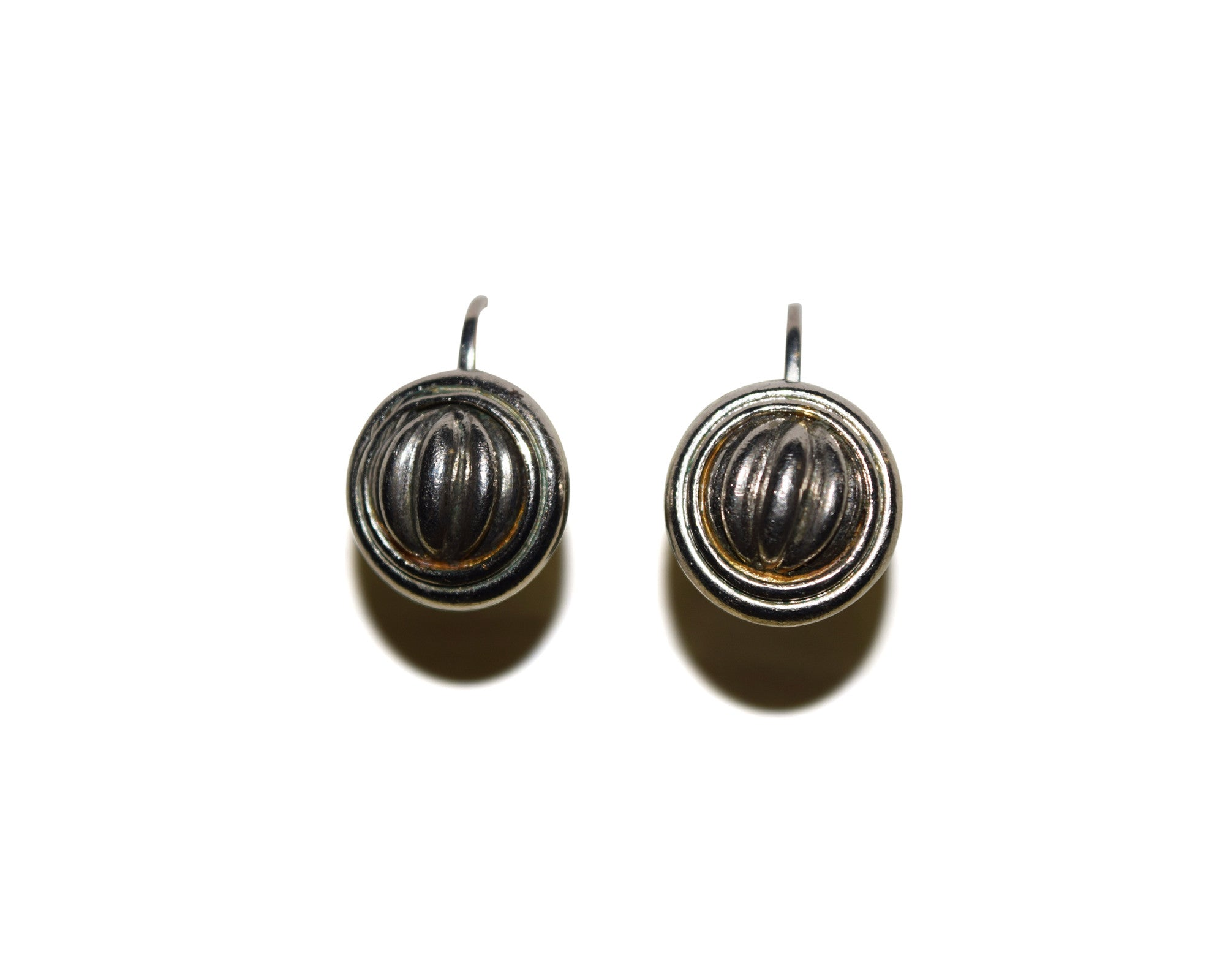 Vintage Silver Dome Earrings